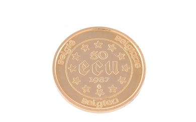 Belgium, gold 50-Ecu 1987, for the 30th Anniversary of the Treaty of Rome