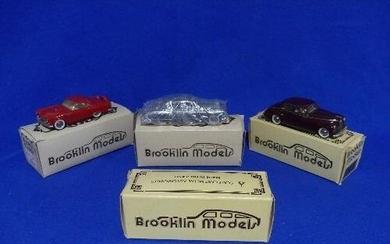 Brooklin Models; A collection of four 1:43 scale die-cast mo...