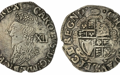 Charles I (1625-1649), Group E, Shilling, 1636-1638, Type 3a, Tower (under King)