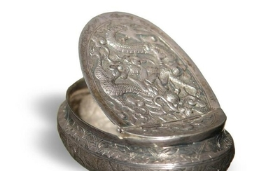 Chinese Export Sterling Silver Snuff Box