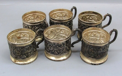 Collection of 6 Art-Nouveau Cup Holders