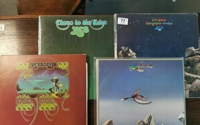 Collection of Four Yes Prog Rock LPs