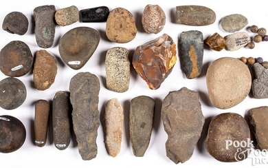 Collection of various stone artifacts