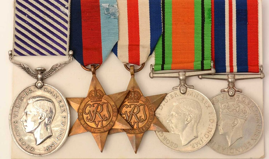 Distinguished Flying Medal group, awarded to 1684777 F/Sgt Kenneth Leigh RAF