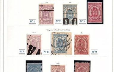 France - Stamps for newspapers - 1868-1869 - A very lovely collection with some peculiarities. - Maury 2017