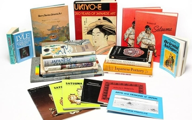 GROUP OF BOOKS ON ASIAN AND JAPANESE ACCESSORIES.