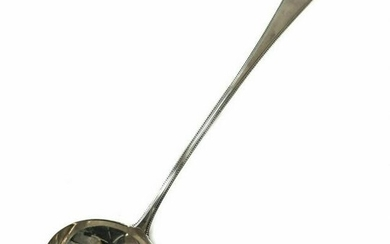 George Smith III Sterling Silver Beaded Soup Ladle