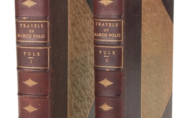 """Illustrated """"The Book of Ser Marco Polo"""" Two-Volume Set, 1926"""