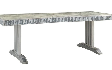 Italian Polychromed and Faux Marbre Table