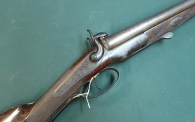 J. Blanch & Son underlever opening 16 bore double barrelled ...
