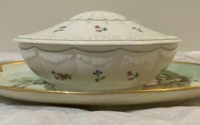 Limoges Lidded Dish & Handled Tray