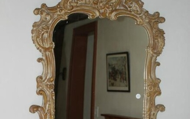 Mirror in French Carved Wood Frame