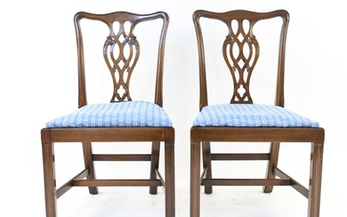 PAIR OF CHIPPENDALE STYLE SIDE CHAIRS