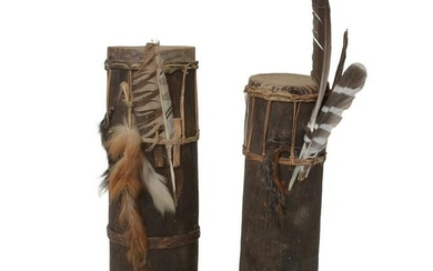 Pair of Palawan Published Bamboo Drums.