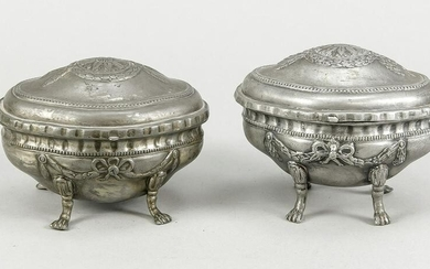 Pair of lidded jars, late 19th cent