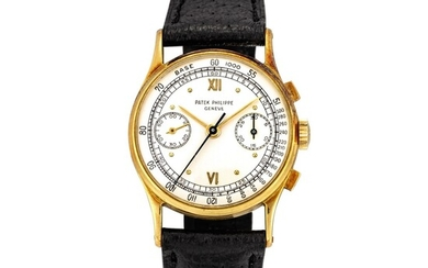 Patek Philippe | Reference 130, A yellow gold chronograph wristwatch, Made in 1949 | 百達翡麗 | 型號130 黃金計時腕錶,1949年製