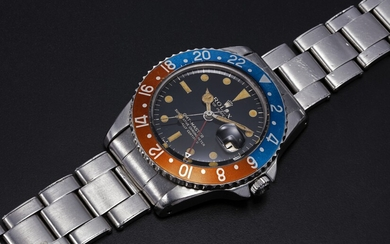 ROLEX, A RARE STEEL OYSTER PERPETUAL GMT-MASTER MADE FOR THE PERUVIAN AIR FORCE, REF. 1675