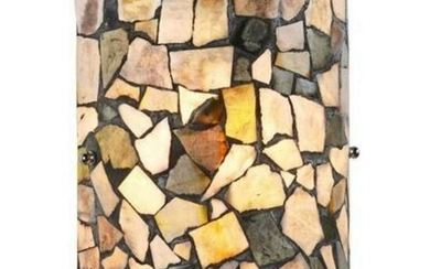 Transitional Style Mosaic Sconce Light