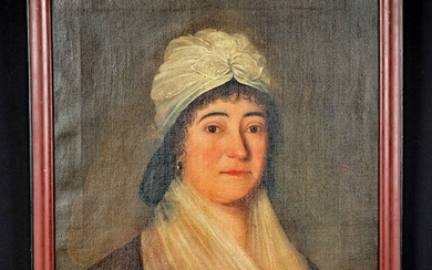 19th C. American Painting - Portrait of a Woman