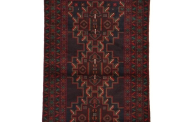 3'10 x 6'4 Hand-Knotted Persian Baluch Rug, 2000s