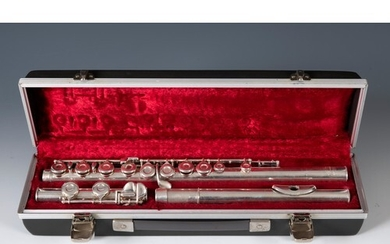 A Boosey & Hawkes Imperial silver flute, in a hard case