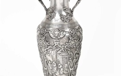 A Chinese Export Silver Vase, by Kwong Hing Luong...