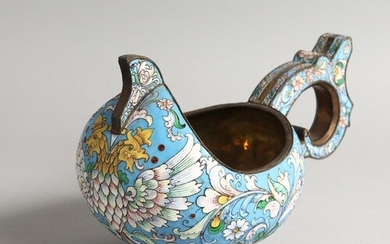 A LARGE RUSSIAN SILVER AND ENAMEL KOVSCH, with double eagle ...