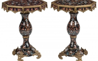 A Pair of French Baroque-Style Gilt Bronze and P