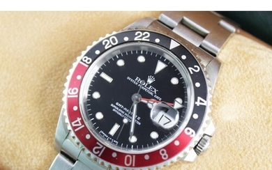 A Rolex Oyster Perpetual Date GMT Master II stainless steel ...
