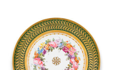A Sèvres plate from 'service d'Italie' for the Prince and Princess Borghèse, circa 1808