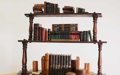 A collection of miniature books, book boxes and related items