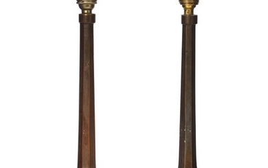 A pair of first half 20th c. Art Deco patinated bronze candlesticks. H. excl. the mounting 31 cm. (2) – Bruun Rasmussen Auctioneers of Fine Art