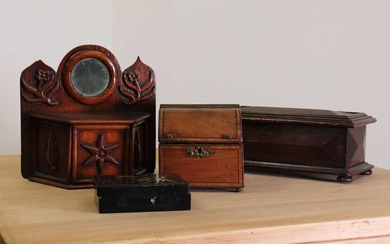 A small French wall collection box