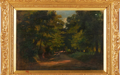 ALESSANDRO CASTELLI (1809-1902). Attributed to. Landscape motifs, oil on paper lined on Board.