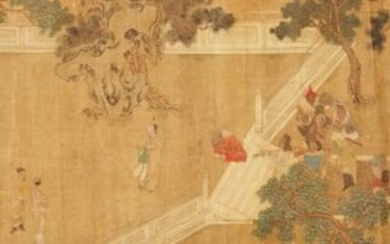 Anonymous, Foreign envoy with tribute bearers, 17th/18 century | 清十七/十八世紀 朝貢圖 設色絹本 手卷