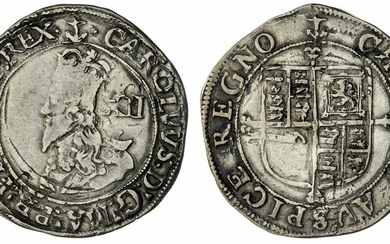 Charles I (1625-1649), Group F, Shilling, 1638-1639, Type 4.3, Tower (under King)