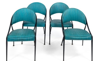 FOUR MID-CENTURY MODERN CHAIRS