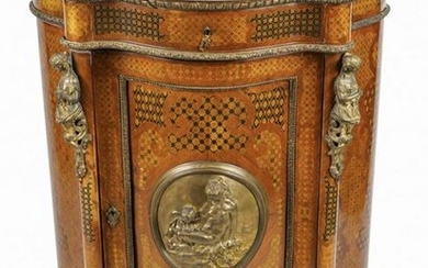FRENCH ORMOLU-MOUNTED MARQUETRY CABINET