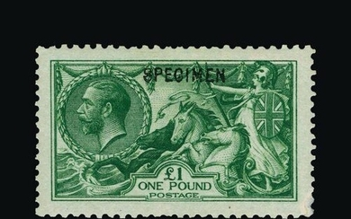 Great Britain - KGV : (SG 403s) 1913 Waterlow £1 green, ovpt...