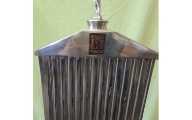"""LARGE REPRODUCTION CHROME ROLLS ROYCE GRILL STANDING 21"""" X 1..."""