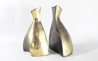 Mid Century Modern Norman Bleckner Tuscan Bookends
