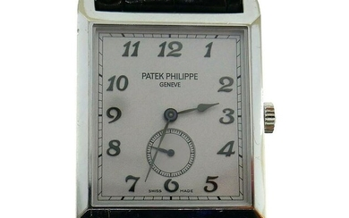 PATEK PHILIPPE White Gold Unisex WATCH BLK LEATHER