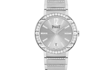 PIAGET, WHITE GOLD AND DIAMOND-SET WITH DATE
