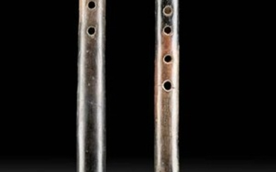 Pair of Colima Pottery Flutes