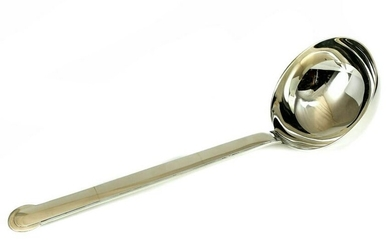 Puiforcat Sterling Silver Soup Serving Spoon in Annecy