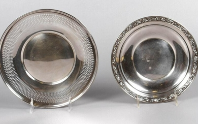 Sterling Plate and Reticulated Dish
