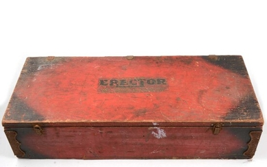 The New Erector chest, A C Gilbert Co, USA and Meccano.