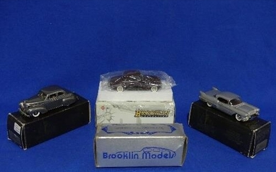 Three Brooklin Collection 1:43 scale die cast models; no. BR...