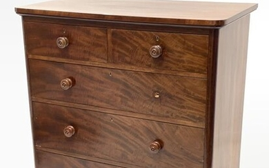 Victorian mahogany chest fitted with two short and three...