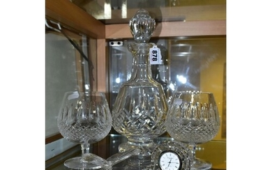 WATERFORD CRYSTAL, comprising a Lismore brandy decanter, two...
